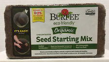 Seed Starter Soil Burpee Organic Concentrated 1lb 6oz Brick Expands To 8 QTS