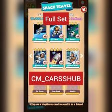 Coin Master:- Space Travel Set- 6 Cards Get in a Min (Golds not included)