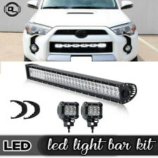 "180W 32"" LED Work Light Bar Combo With 4"" Spot Pods Offroad For Car Truck"