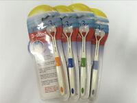 Brosse à dents ultra-fine à 3 côtés pour adultes avec brosse à dents pour RZ