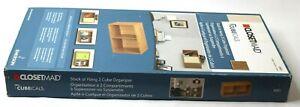 ClosetMaid 8981 Cubeicals Organizer 2-Cube Light Brown
