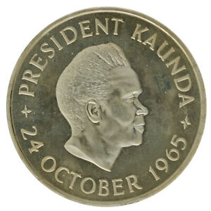 Zambia - Copper-Nickel 5 Shillings Coin - 'Independence' - 1965 - Proof