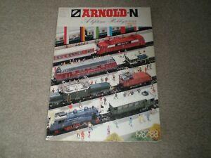 Arnold N Gauge Catalogs 1987 / 88 & 1977 / 78 - Arnold-N Rapido Lot