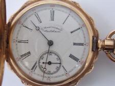 American Waltham Watch Co 14K Multi Color Gold Hunter Case Pocket Watch