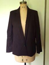 Comptoir des Cotonniers dark purple low waist women's blazer jacket wool 42 L XL