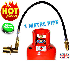 UK Bayonet LPG Filling Point to Gas cylinder Propane Bottle 1 Meters FLEXI pipe