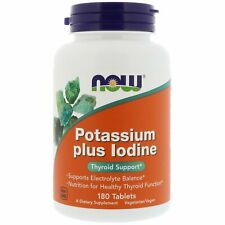 Now Foods, (2 Pack) Potassium Plus Iodine, 180 Tablets