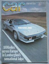CAR 06/1983 featuring Lamborghini Jalpa, Bugatti 35T, Porsche 911, AMG Mercedes
