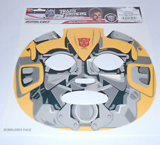 "Transformer ""Bumble Bee"" Temporary face tattoo-costume-Halloween Mask"