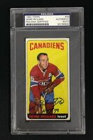 HENRI RICHARD SIGNED TOPPS 1964 CANADIENS HOCKEY CARD #48 PSA/DNA Auto SP HOF