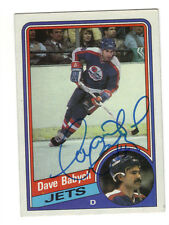 Dave Babych Signed card Topps 84-85 COA 4/13