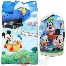 "Disney Mickey Mouse Kids Sleeping Bag Slumber Bag with Carry Backpack (30""x 54"")"