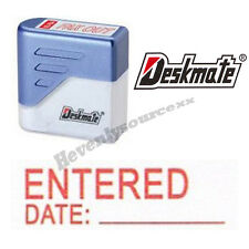 { ENTERED DATE: } Deskmate Red Pre-Inked Self-Inking Rubber Stamp #KE-E02