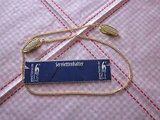 Serviettenkette Serviette Kette Serviettenhalter Serviettenklammer 55 cm gold