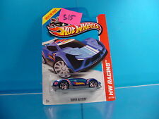 #315 HOT WHEELS HW RACING 2013 SUPER BLITZEN #107 BLUE GRAPHICS NEW ON CARD