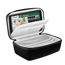 GPS Navigation Travel Bag Hard EVA Carrying Case Storage 6-7 Inch Black New .