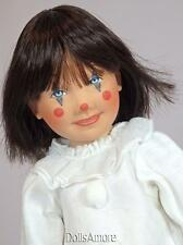 Helen Kish 1999 Blue Pierrot  hand painted  Doll Head with Doll Body DIY