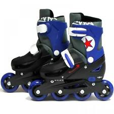 Rollers et patins bleus