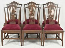 Set of 6 Potthast Mahogany Chippendale Style Dining Chairs with Inlays