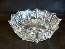 "Early American Pressed Glass Bowl  Beautiful      D  7 1/2""  H  2 1/8"""