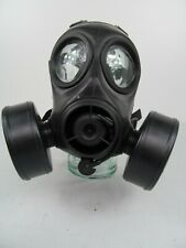 More details for british army x police nbc cbrn twin port fm12 respirator gas mask s10 prepper k2