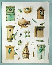 Marjolein Bastin Birdhouse Birds Sketchbook Stickers Vtg Hallmark Sheet Mint
