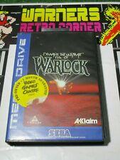 Sega Megadrive Genesis warlock retro Video game official uk pal