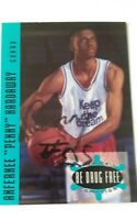 EARLY PENNY HARDAWAY SIGNED SHERIFF'S BE DRUG FREE CARD