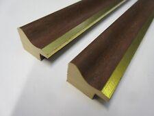 1.9m (93-105cm) bundle of 25mm Brown & Gold Wooden Picture Frame Moulding