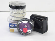 Grab Bag of 9 - 52mm Filters, UV Haze, Linear Polarizer, 80B, and more