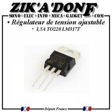 Régulateur de tension ajustable LM317T 1,5A TO220 (Expédié depuis la France)