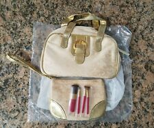 AVON, GOLD HANDBAG/PURSE WITH MAKE-UP BAG INSIDE, NEVER USED, NEW IN BAG