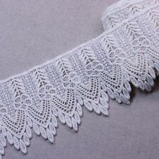 "Vintage Style Scalloped Embroidery Crochet Lace Trim 3.1""(8cm) Wide 1Yd"