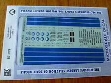 Microscale Decal HO #87-929 Metro-North -- Commuter Passenger Cars 1990+
