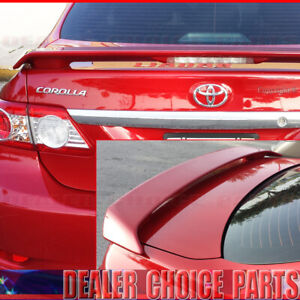 For 2009-2011 2012 2013 Toyota Corolla Factory Style Spoiler Wing W/L UNPAINTED