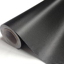 127 x 50mm 3D Selbstklebend Carbon Folie Auto KFZ Klebe Folie Glanz Matt Schwarz