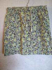 CHRISTOPHER BANKS..SKIRT..12..GREEN/BROWN PRINT..COTTON..FREE SHIP