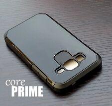 For Samsung Galaxy Prevail / Core Prime HARD&SOFT RUBBER HYBRID CASE BLACK ARMOR