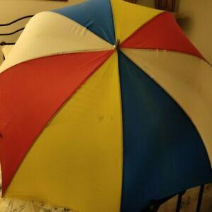 "Rare Umbrella Vintage Collector Multi-Colored Extra Larger 54"" Wide"