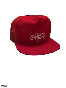 Coca Cola Classic Red Mesh Snapback Trucker Hat Cap Vintage - New with Tag