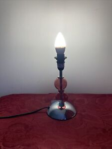 Unusual Lamp Brown 24 cm High Candle Bulb Lighting Light Bubble like Design Used