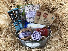 Ladies Birthday Get Well Rustic Garden Planter Hamper Lavender Tea Coffee