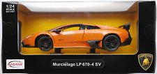 Rastar-Lamborghini Murciélago lp670-4 SV orangemet. 1:24 Nouveau/Neuf dans sa boîte voiture miniature