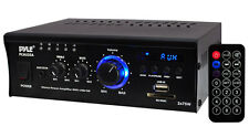 New Pyle PCAU35A 2 x 75W Stereo Power Mini Amplifier USB/SD AUX Player & Remote