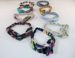 SAYGOGO Women Headband Hair Band, Boho Floral Style Criss Cross Head Wrap 9 PCS