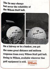 Original Vintage 'Wilson Staff Ball' - Golf World Magazine July 1965 Advert
