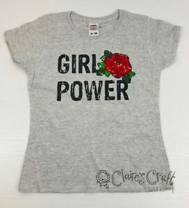 Girl Power T-shirt - gift, present, trend, personalised, rose