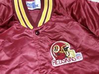 Vintage 90s Chalkline NFL Washington Redskins Satin Bomber Jacket Mens L EUC VTG