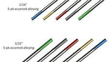 WeldingCity TIG Welding Tungsten ASSORTED Green-Red-Gray-Gold-Blue 1/16