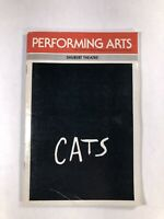 Performing Arts Magazine CA, Shubert Theatre, CATS May 1986 Program With Inserts